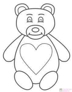 dibujos de osos para colorear