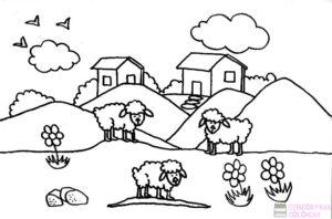 oveja para imprimir