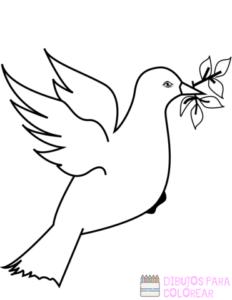 paloma de la paz dibujo