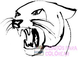 pantera para colorear
