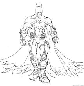 batman dibujo a lapiz