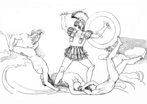 dibujos de aquiles y helena