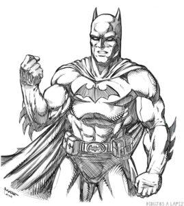 dibujos de batman a lapiz