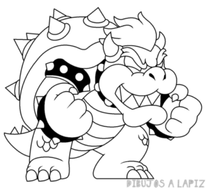 imagenes para dibujar a bowser